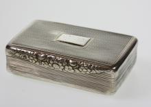George IV Table Snuff Box. Joseph Wilmore, Birmingham 1825