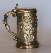 A Continental Silver Tankard. Possibly German, 19th century