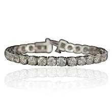 14KT White Gold 15.06ctw Diamond Tennis Bracelet