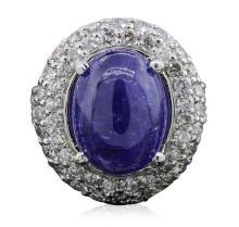 14KT White Gold 8.71ct Tanzanite and Diamond Ring