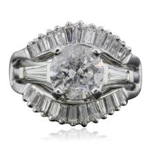 Platinum and 14KT White Gold 3.55ctw Diamond Ring