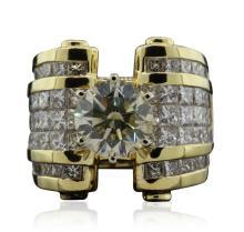 18KT Yellow Gold 8.81ctw Diamond Ring