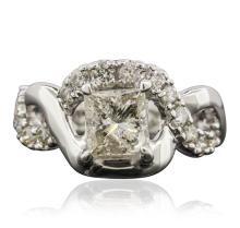 14KT White Gold 1.87ctw Diamond Ring