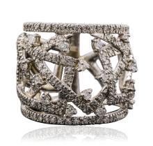 14KT White Gold 1.74ctw Diamond Ring