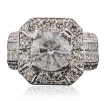14KT White Gold 5.79ctw Diamond Ring