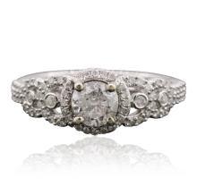 14KT White Gold 1.19ctw Diamond Ring