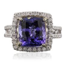 14KT Two-Tone Gold 1.83ct Tanzanite and Diamond Ring