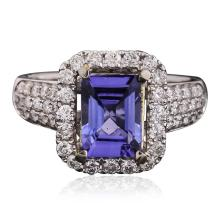 14KT Two-Tone Gold 2.00ct Tanzanite and Diamond Ring