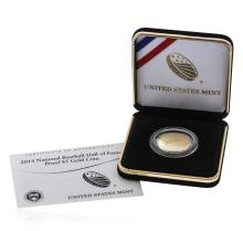 2014-W National Baseball Hall of Fame HOF Proof $5 Gold Coin