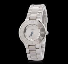 Cartier Must De 21 Stainless Steel Wristwatch