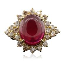 14KT Yellow Gold 9.85ct Ruby and Diamond Ring