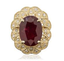 14KT Yellow Gold 12.63ct Ruby and Diamond Ring