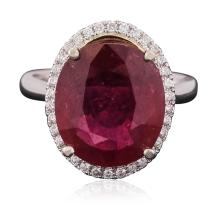 14KT White Gold 9.20ct Ruby and Diamond Ring