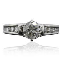 Platinum 1.14ctw Diamond Ring