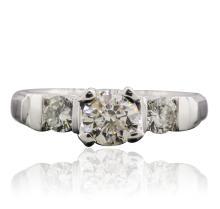 Platinum 1.20ctw Diamond Ring