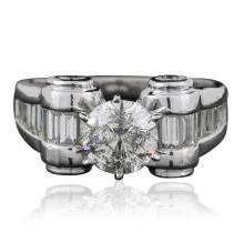 Platinum 2.35ctw Brilliant Cut Diamond Ring