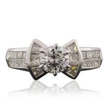 Platinum 1.65ctw Diamond Ring