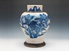 BLUE AND WHITE imitation of the eighteenth century Chenghua brother to Tan Glaze