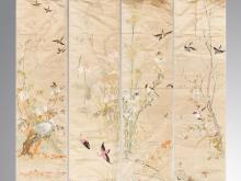 A set of four seasons bird Sixiu