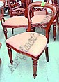 DINING CHAIRS, set of eight, in mahogany, Victorian hooped back style with padded seats, by Simbeck of High Wycombe. (8)