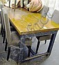 DINING TABLE, Chalon style, with plank top, on