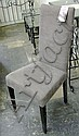DINING CHAIRS, a set of eight, high back, with