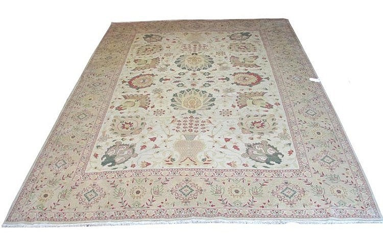 ANTIQUE STYLE SULTANABAD CARPET, 385cm x 310cm,