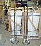FLOOR LAMPS, a pair, of Art Deco design,