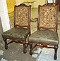 DINING CHAIRS, a set of six, French style with