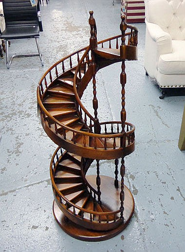ARCHITECTS STUDY, miniature staircase mahogany,