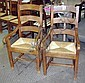 DINING CHAIRS, a set of eight (including two