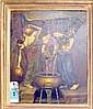 OIL ON CANVAS, Pre-Raphaelite style, in gilded frame, 70cm x 62cm.