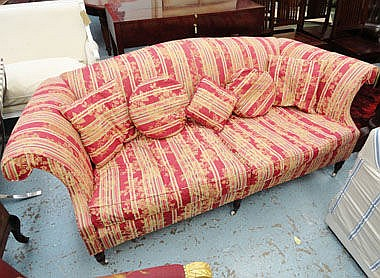 SOFA, traditional style with a humped back in