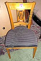DINING CHAIRS, a set of six, Biedermeier style,