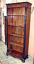 TALL OPEN BOOKCASE, Georgian style mahogany and