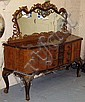 MIRROR BACK SIDEBOARD, en suite with lots 1 and 3,