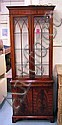 DISPLAY CABINET, mahogany with a pair of Gothic