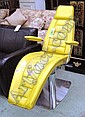 RECLINING CHAIR, of dentist style, yellow, on