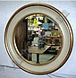WALL MIRROR, circular, bevelled, Regency style, in