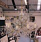 CHANDELIER, Venetian style, ten branches with cut