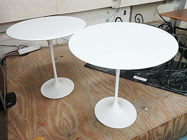 TABLES, a pair, Saarinen, by Knoll Studios,