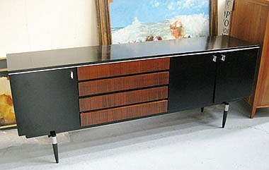 SIDEBOARD, 1960's style, with four drawers below