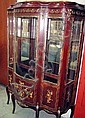 VITRINE, Louis XV style with gilt metal mounts,