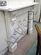 FIRE SURROUND, Victorian style, white marble, with