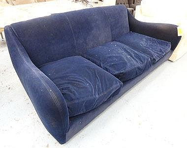 SOFA, Balzac by Matthew Hilton in blue velvet,