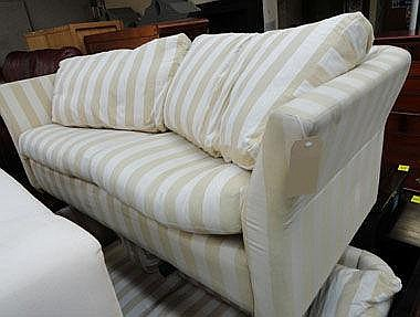 SOFA, large two seater, to match previous lot,