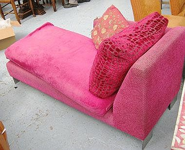 DAYBED, by Designers Guild, in raised pink velvet