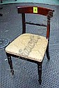DINING CHAIRS, a set of six, Regency style. (6)