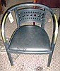 OTTO WAGNER CHAIR, by Thonet, ebonised, with brass