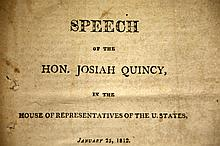 Speech by Josiah Quincy, 1812, 1st edition